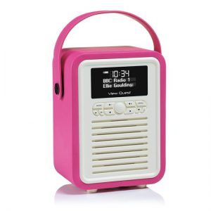 viewquest-retro-mini-bluetooth-speaker-met-dab-radio-roze